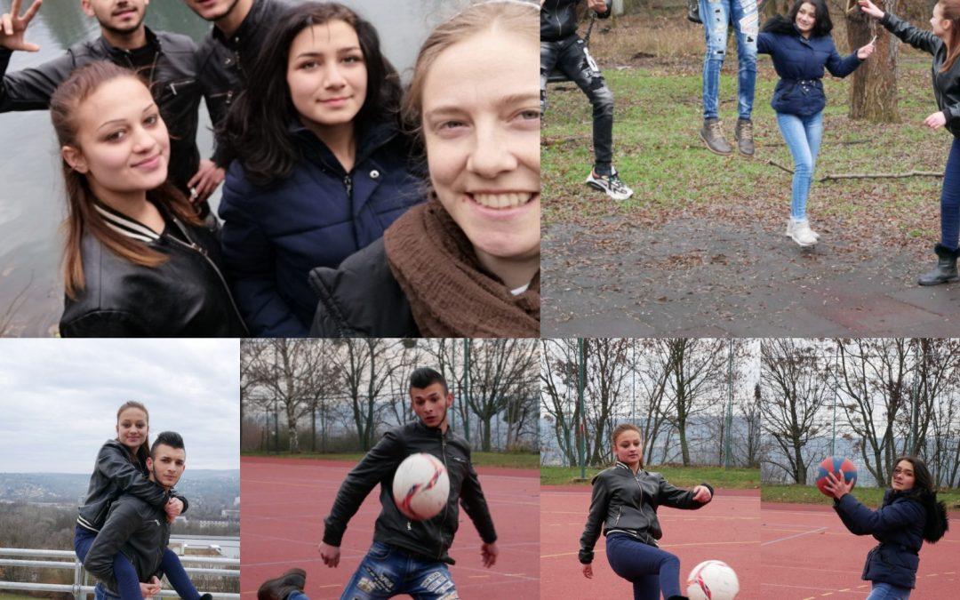 Team-building mit den Jugendlichen